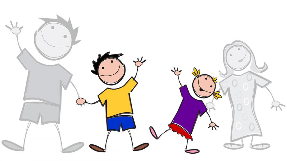 Ilustrasi anak-anak yang menjadi yatim piatu